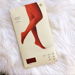 A New Day Red 50 Denier Opaque Tights
